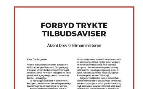 Åbent brev til klimaministeren: FORBYD TRYKTE TILBUDSAVISER